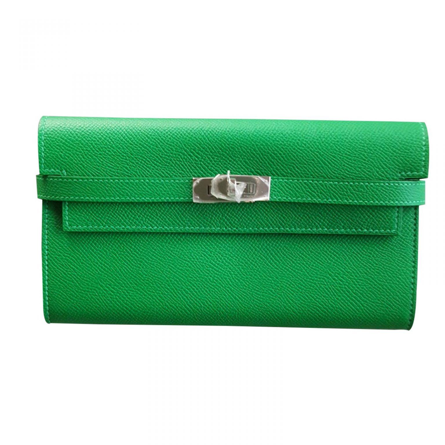 porte monnaie femme vert